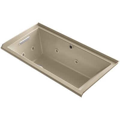 Underscore 60 x 30 Air / Whirlpool Bathtub Finish: Mexican Sand, Drain Location: Left
