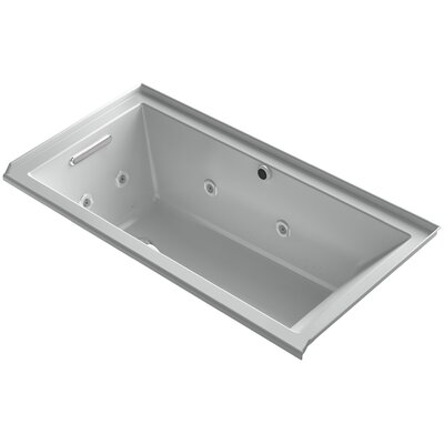 Underscore 60 x 30 Air / Whirlpool Bathtub Finish: Ice Grey, Drain Location: Left