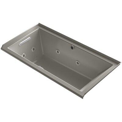 Underscore 60 x 30 Air / Whirlpool Bathtub Finish: Cashmere, Drain Location: Left