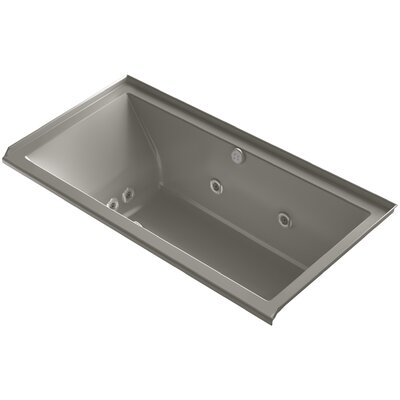 Underscore 60 x 30 Air / Whirlpool Bathtub Finish: Cashmere, Drain Location: Right