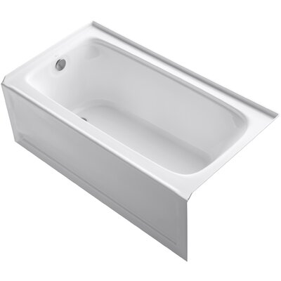 Bancroft 60 x 32 Soaking Bathtub Finish: White, Drain Location: Left