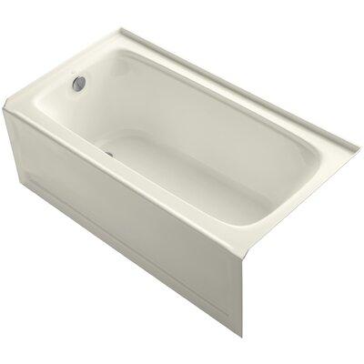 Bancroft 60 x 32 Soaking Bathtub Finish: Biscuit, Drain Location: Left