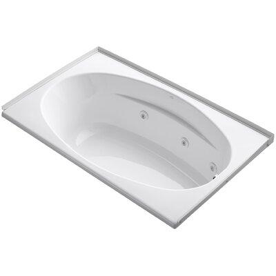 Alcove 60 x 36 Whirpool Bathtub Finish: White