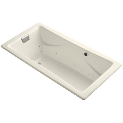 Tea-For-Two Bubblemassage 72 x 36 Whirpool Bathtub Jet Finish: Brushed Nickel, Finish: Almond, With Chromatherapy Lights: No