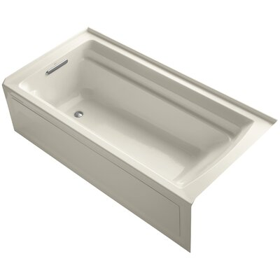 Archer 72 x 36 Soaking Bathtub Finish: Almond, Drain Location: Left