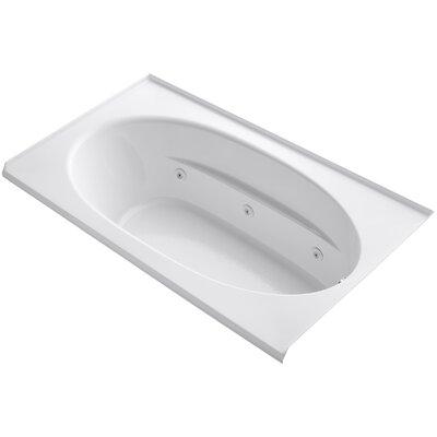 Windward Alcove 72 x 42 Whirpool Bathtub Finish: White