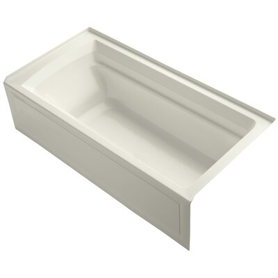 Archer 72 x 36 Soaking Bathtub Finish: Biscuit, Drain Location: Right