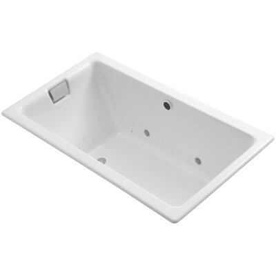 Tea-For-Two Bubblemassage 66 x 36 Soaking Bathtub Finish: White, Jet Finish: White