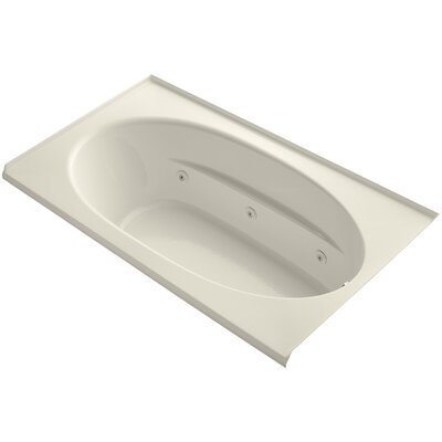 Windward Alcove 72 x 42 Whirpool Bathtub Finish: Almond