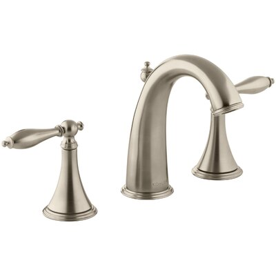 Finial Widespread Double Handle Bathroom Faucet with Drain Assembly Finish: Vibrant Brushed Bronze
