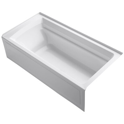 Archer 72 x 36 Soaking Bathtub Finish: White, Drain Location: Right