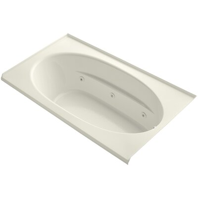 Windward Alcove 72 x 42 Whirpool Bathtub Finish: Biscuit