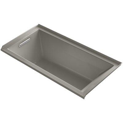 Underscore 60 x 30 Soaking Bathtub Finish: Cashmere, Drain Location: Left