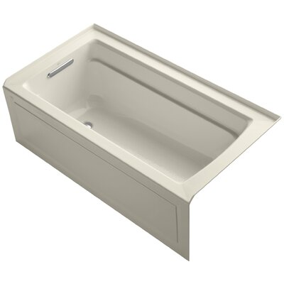 Archer 60 x 32 Soaking Bathtub Finish: Almond, Drain Location: Left