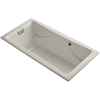 Tea-For-Two Bubblemassage 72 x 36 Whirpool Bathtub Finish: Sandbar, Jet Finish: Brushed Nickel, With Chromatherapy Lights: Yes