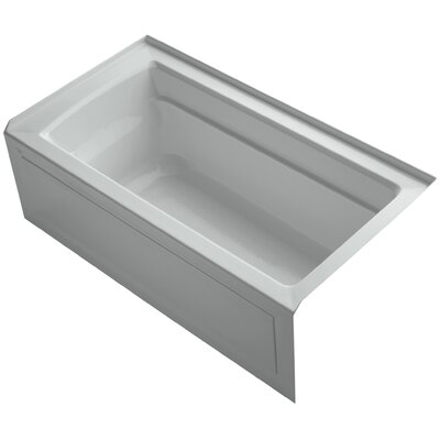 Archer 60 x 32 Soaking Bathtub Finish: Ice Grey, Drain Location: Right