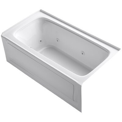 Bancroft Alcove Whirlpool Bath with Tile Flange, Right-Hand Drain and Bask Heated Surface Finish: White