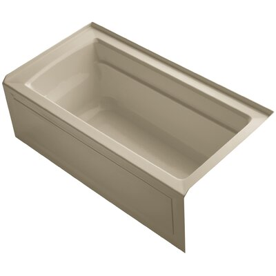 Archer 60 x 32 Soaking Bathtub Finish: Mexican Sand, Drain Location: Right