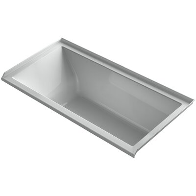 Underscore 60 x 30 Soaking Bathtub Finish: Ice Grey, Drain Location: Right