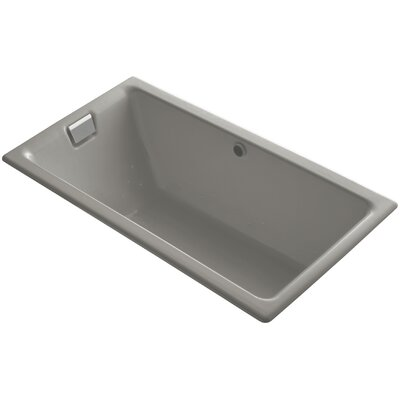 Tea-For-Two Bubblemassage 66 x 36 Soaking Bathtub Finish: Cashmere, Jet Finish: Brushed Nickel