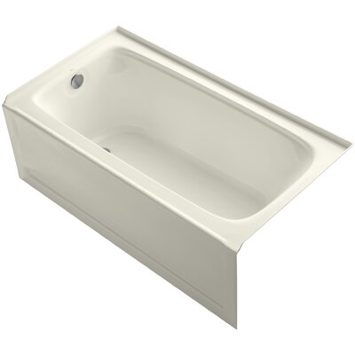 Bancroft 60 x 32 Soaking Bathtub Finish: Biscuit, Drain Location: Left