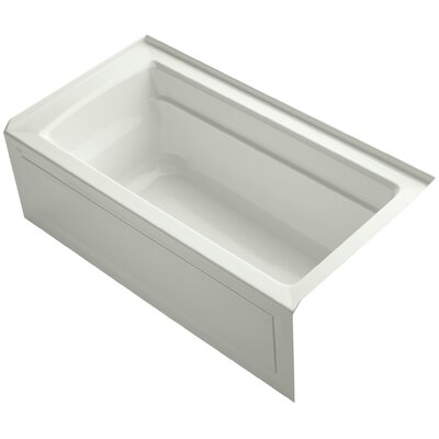 Archer 60 x 32 Soaking Bathtub Finish: Dune, Drain Location: Right