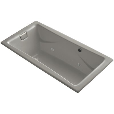 Tea-For-Two Bubblemassage 72 x 36 Whirpool Bathtub Finish: Cashmere, Jet Finish: Brushed Nickel, With Chromatherapy Lights: Yes
