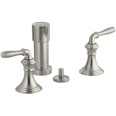 Devonshire Vertical Spray Bidet Faucet with Lever Handles Finish: Vibrant Brushed Nickel