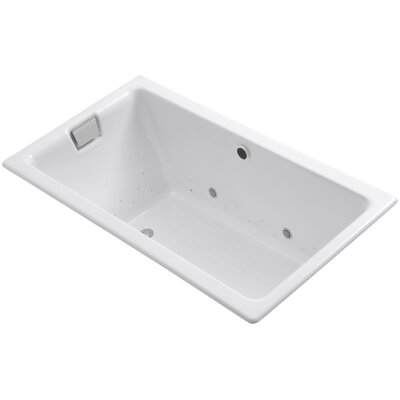 Tea-For-Two Bubblemassage 66 x 36 Whirpool Bathtub Finish: White, Jet Finish: White