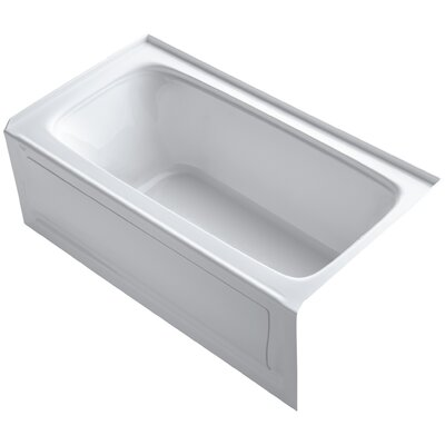 Bancroft 60 x 32 Soaking Bathtub Finish: White, Drain Location: Right
