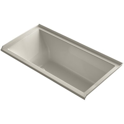 Underscore 60 x 30 Soaking Bathtub Finish: Sandbar, Drain Location: Right