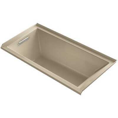 Underscore 60 x 30 Bathtub Finish: Mexican Sand, Drain Location: Left