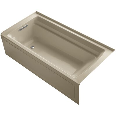 Archer 72 x 36 Air Bathtub Finish: Mexican Sand, Drain Location: Left
