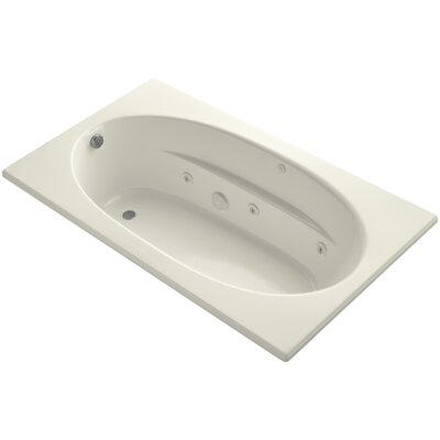 Windward 72 x 42 Whirpool Bathtub Finish: Biscuit