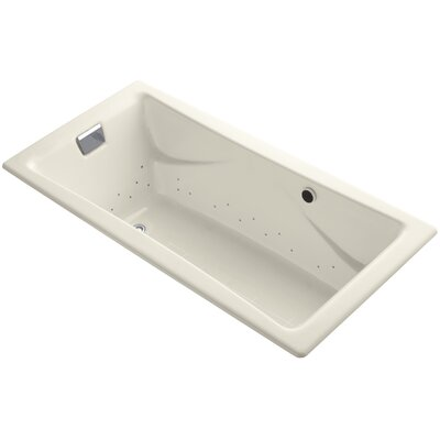 Tea-For-Two Bubblemassage 72 x 36 Whirpool Bathtub Jet Finish: Polished Chrome, Finish: Almond, With Chromatherapy Lights: Yes
