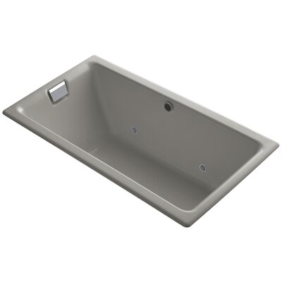 Tea-For-Two Bubblemassage 66 x 36 Whirpool Bathtub Finish: Cashmere, Jet Finish: Polished Chrome