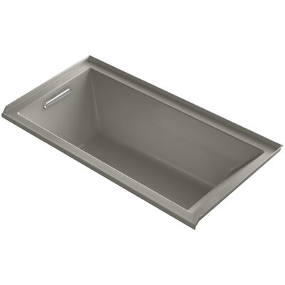 Underscore 60 x 30 Bathtub Finish: Cashmere, Drain Location: Right