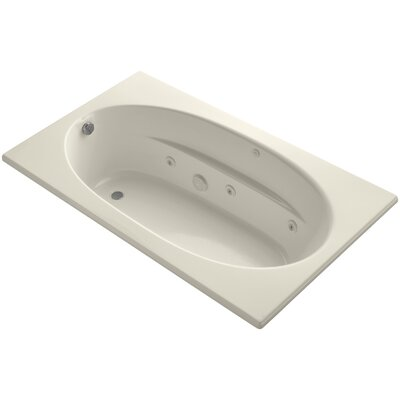 Windward 72 x 42 Whirpool Bathtub Finish: Almond