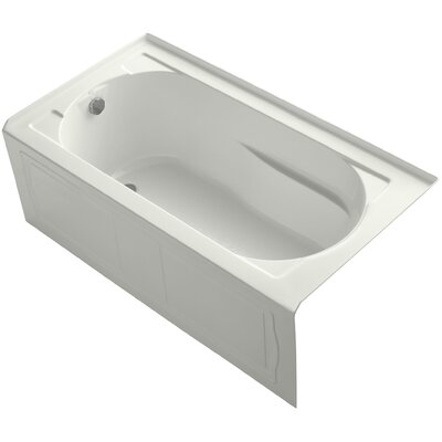 Devonshire Alcove Vibracoustic 60 x 32 Soaking Bathtub Finish: Dune, Drain Location: Left