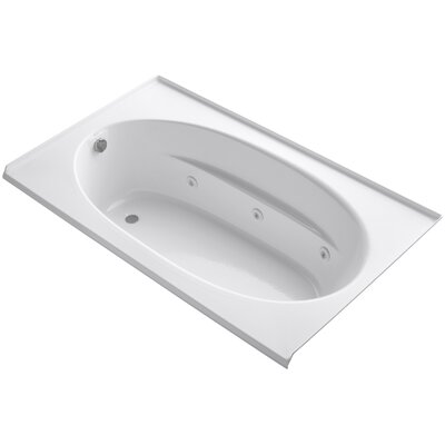 Windward Alcove 72 x 42 Whirpool Bathtub Finish: White