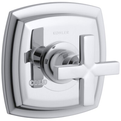 Margaux Valve Trim with Cross Handle for Thermostatic Valve, Requires Valve Finish: Polished Chrome