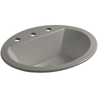 Bryant Ceramic Oval Drop-In Bathroom Sink with Overflow Finish: Cashmere