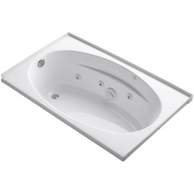 Alcove 60 x 36 Whirpool Bathtub Finish: White