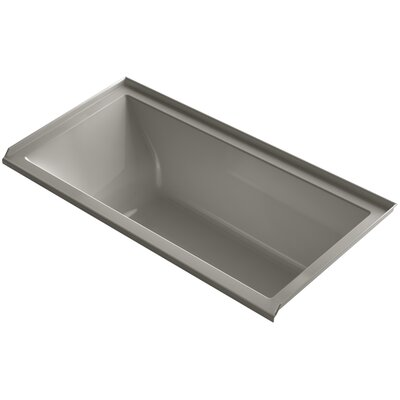 Underscore 60 x 30 Air Bathtub Finish: Cashmere, Drain Location: Right