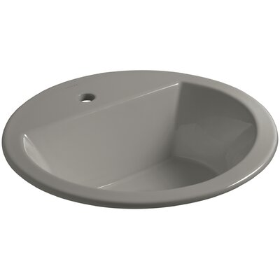 Bryant Ceramic Circular Drop-In Bathroom Sink with Overflow Finish: Cashmere, Faucet Hole Style: 8 Widespread