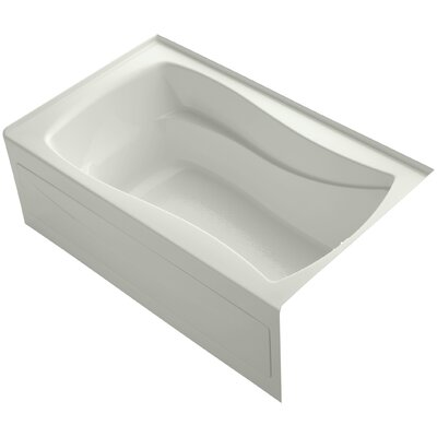 Mariposa Alcove 60 x 36 Soaking Bathtub Finish: Almond, Drain Location: Right