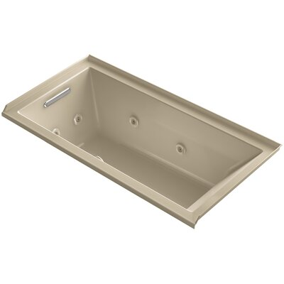 Underscore 60 x 30 Whirlpool Bathtub Finish: Mexican Sand, Drain Location: Left
