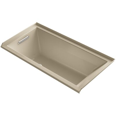 Underscore 60 x 30 Air Bathtub Finish: Mexican Sand, Drain Location: Left
