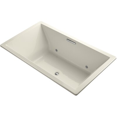 Underscore 72 x 42 Soaking Bathtub Finish: Almond