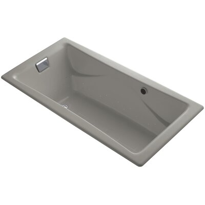 Tea-For-Two Bubblemassage 72 x 36 Whirpool Bathtub Jet Finish: Polished Chrome, Finish: Cashmere, With Chromatherapy Lights: Yes